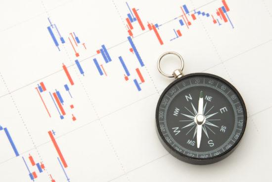 乱高下する株価チャート
