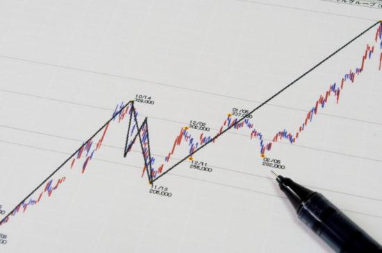 上昇する株価チャート