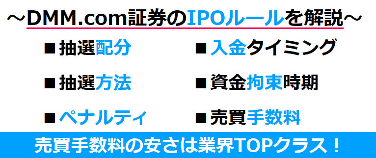 DMM.com証券のIPOルール