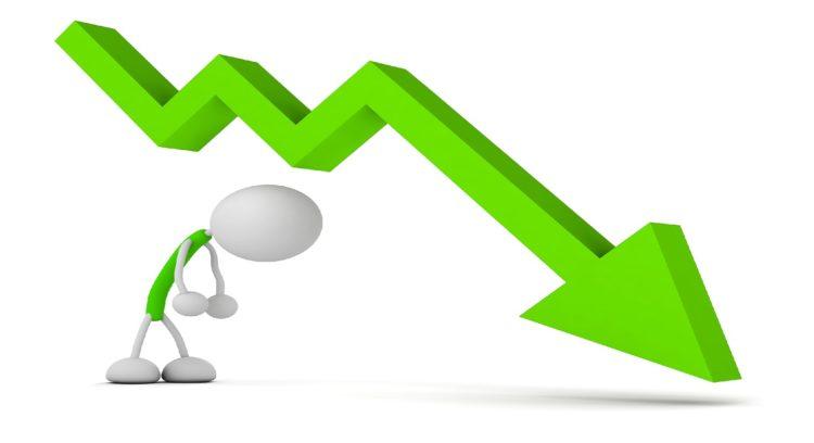 株価が下がるイメージ
